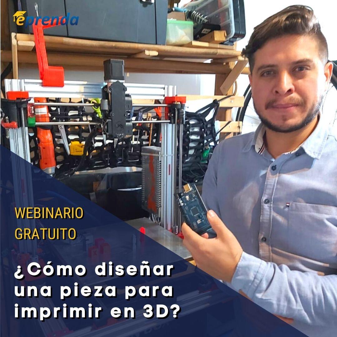 ¿Cómo diseñar una pieza para imprimir en 3D?