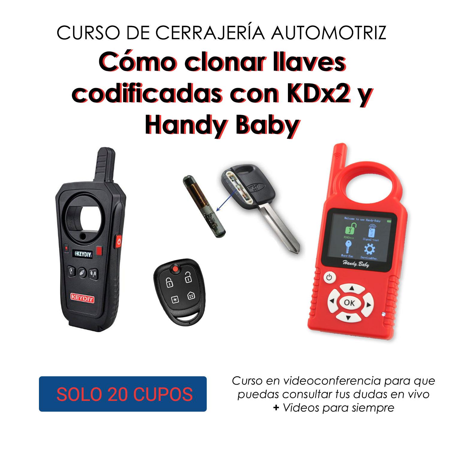 Cerrajeria Automotor: Como realizar un duplicado de llaves codificadas - KDx2 y Handy Baby