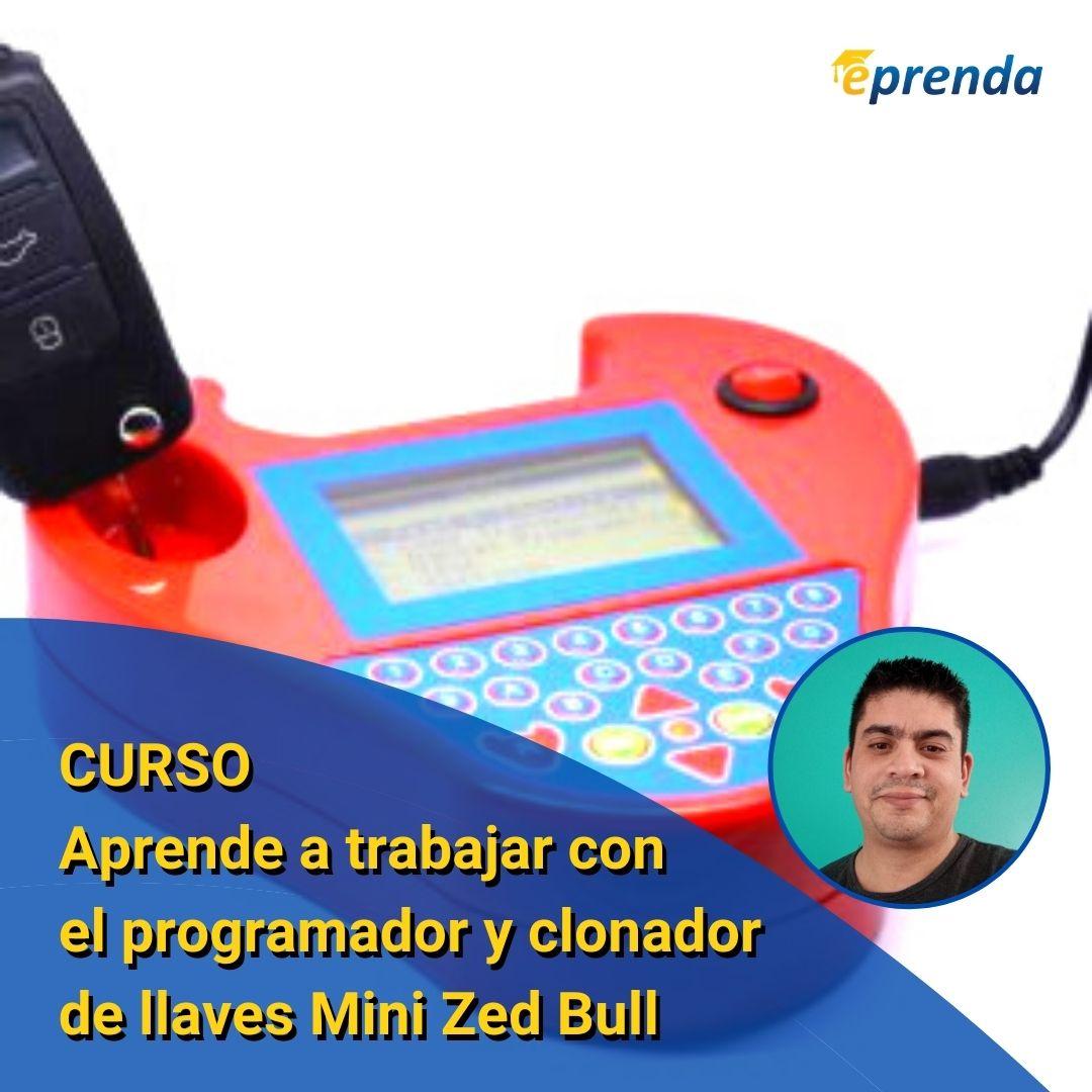 Aprende a trabajar con el programador y clonador de llaves Mini Zed Bull
