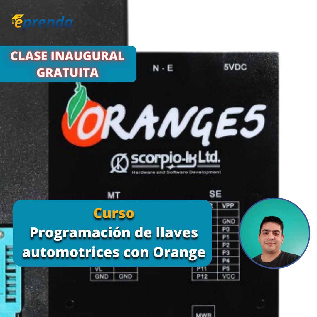 Clase Inaugural de Programación de llaves automotrices con Orange