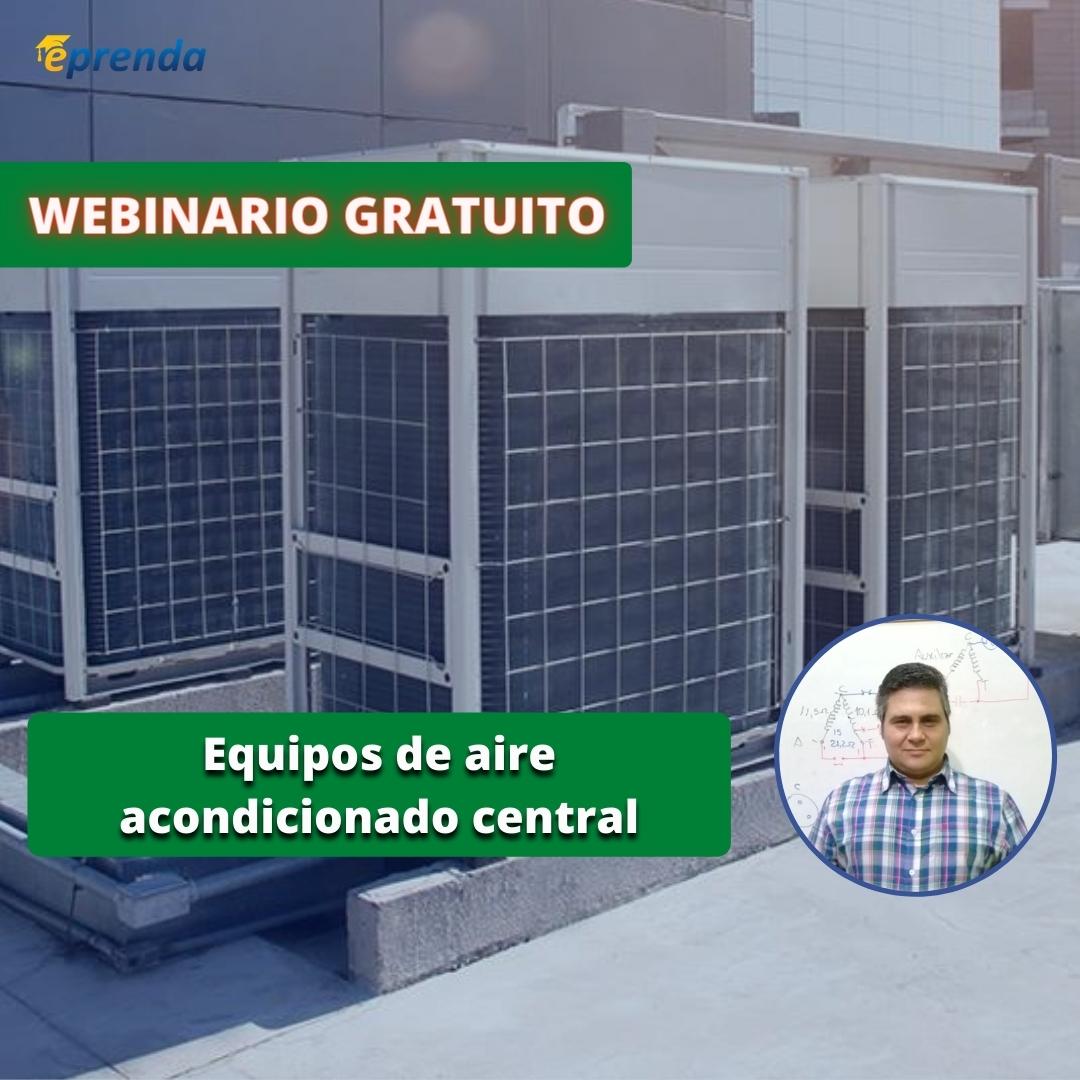 Webinario gratuito sobre equipos de aire acondicionado central