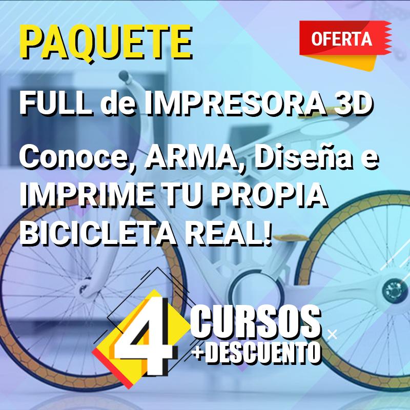 FULL de IMPRESORA 3D - Conoce, ARMA, Diseña e IMPRIMI TU PROPIA BICICLETA REAL !!