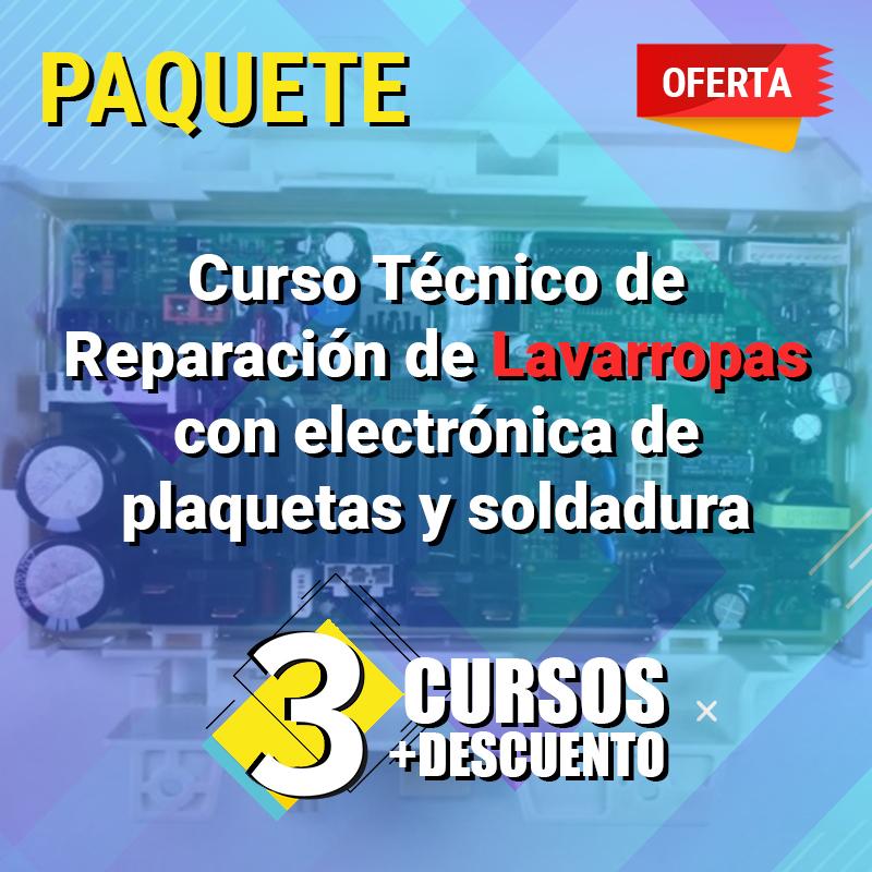 Curso tecnico de Reparacion de lavarropas con electronica de plaquetas y soldadura