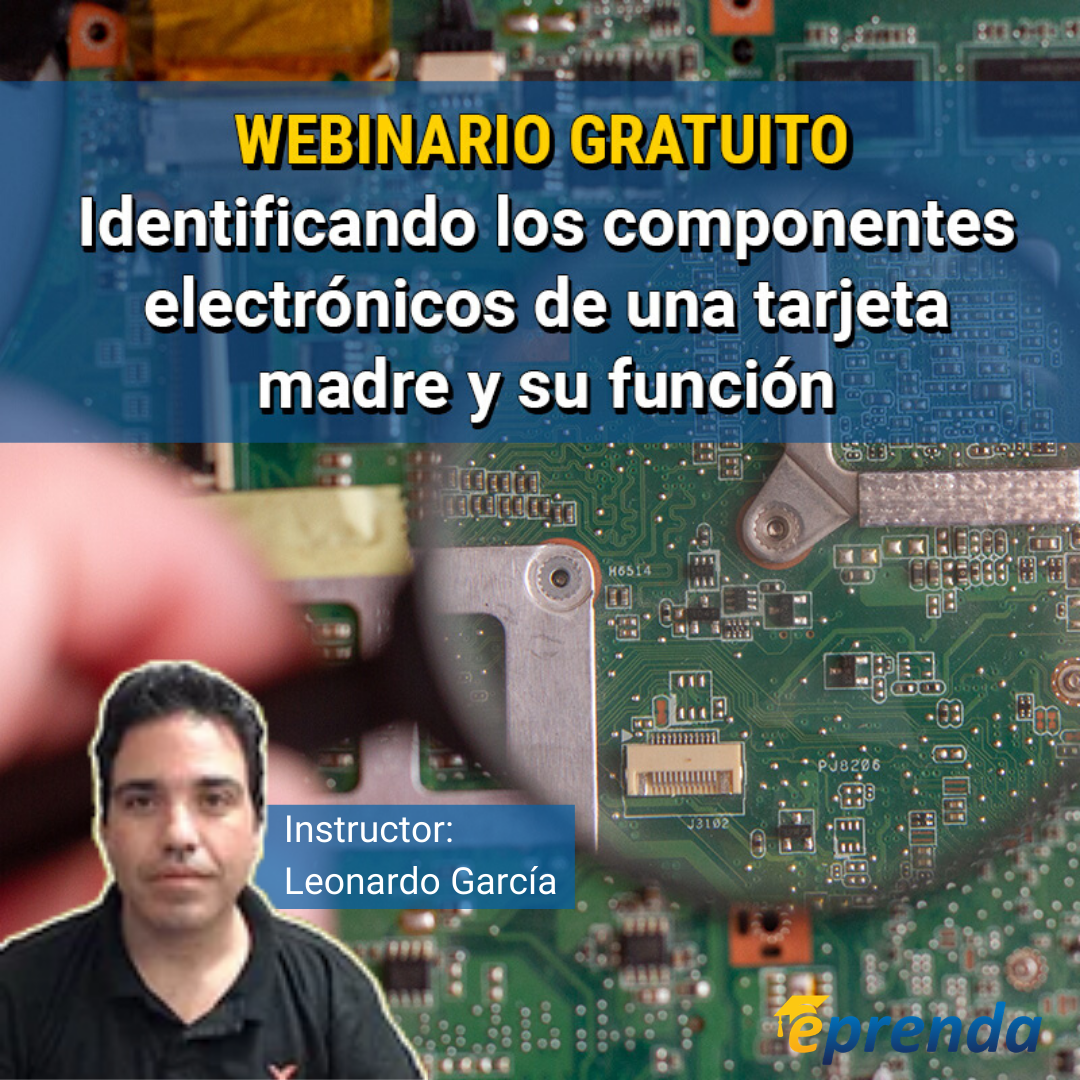 Identificando los componentes electrónicos de una tarjeta madre de Laptop y su función