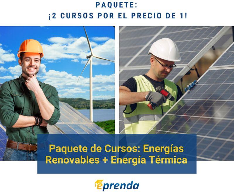 Curso de Energías Renovables + Curso de Energía Solar Térmica (Obsequio)