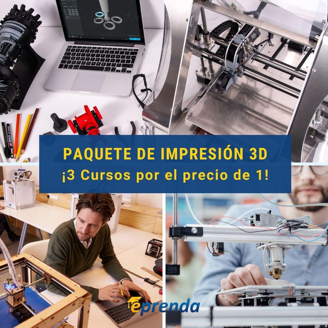 3 Cursos: Diseña en 3D tus propias piezas
